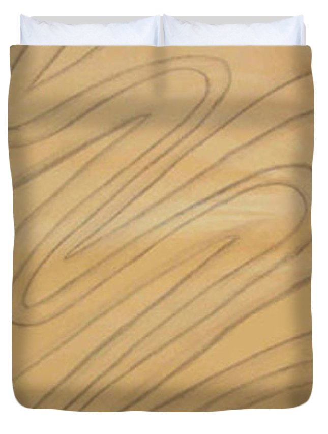 Abstract Duvet Cover featuring the drawing Maze Of Life Drawing by Natalee Parochka