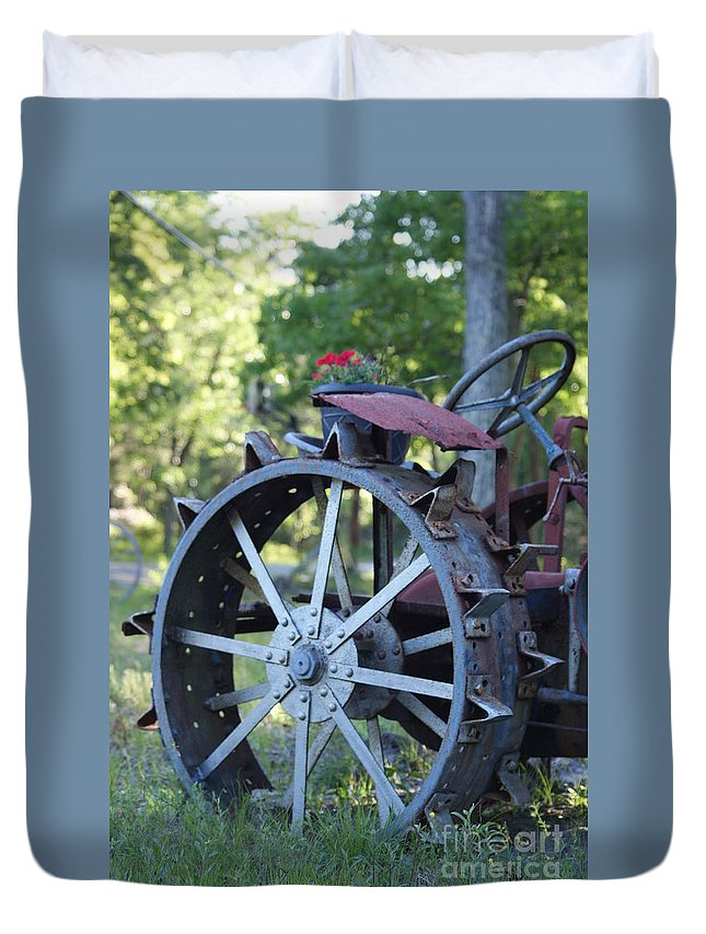Mccormic Duvet Cover featuring the photograph Mccormic Deering Farm Tractor  # by Rob Luzier