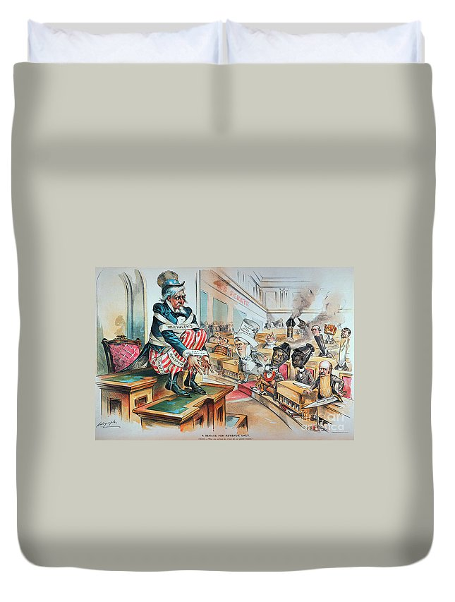 1894 Duvet Cover featuring the photograph Mckinley Tariff Act, 1894 by Granger
