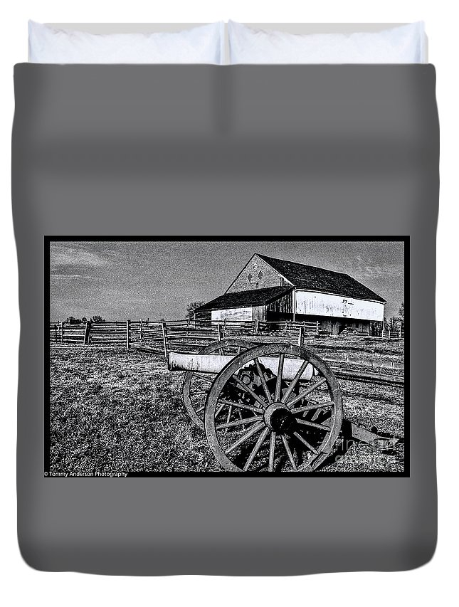 Gettysburg Duvet Cover featuring the photograph Mcpherson Farm-gettysburg by Tommy Anderson