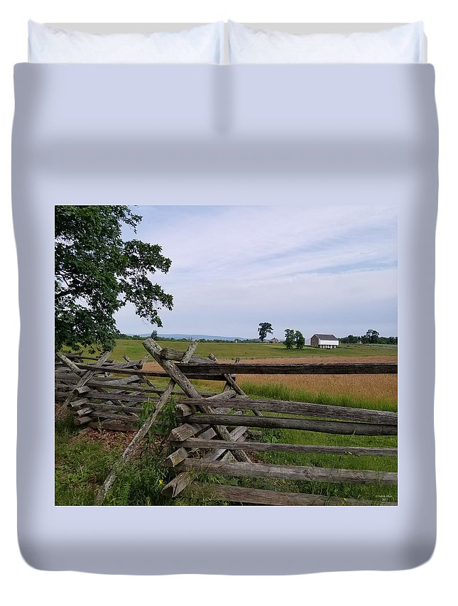 July 1 Duvet Cover featuring the photograph Mc Pherson Ridge by Judith Rhue