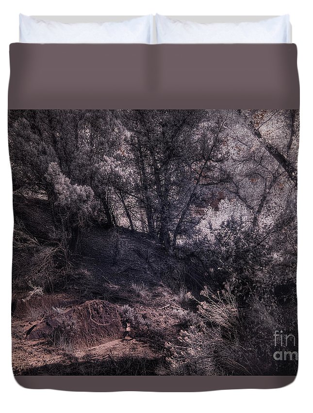 Md His Place Duvet Cover featuring the digital art Md His Place by William Fields