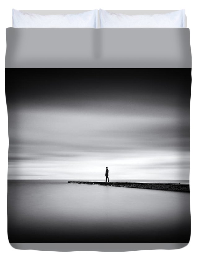 Seasalter Duvet Cover featuring the photograph Me In Time by Ian Hufton