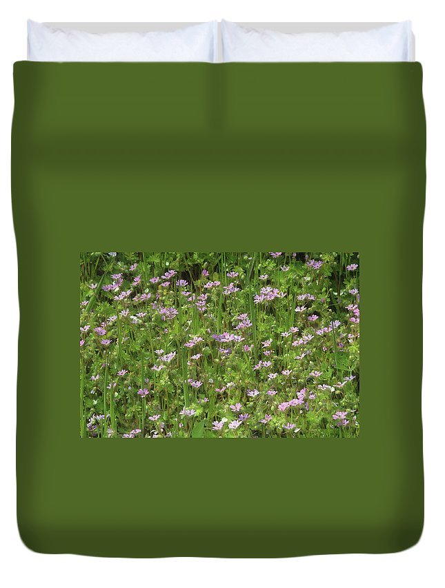 Plants Duvet Cover featuring the photograph Meadow Field by Cliff Norton