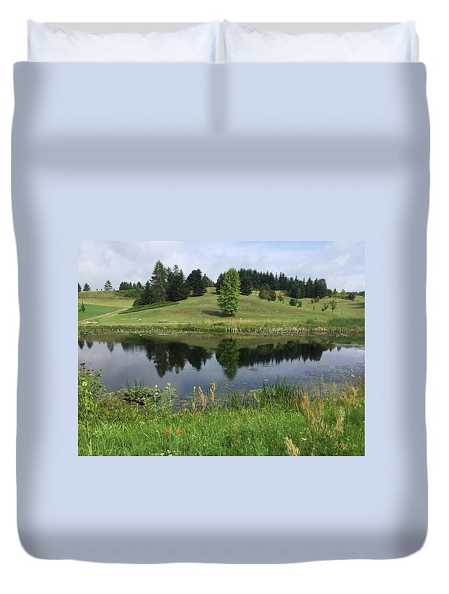 Duvet Cover featuring the photograph Meadow by ISABELLE Foley