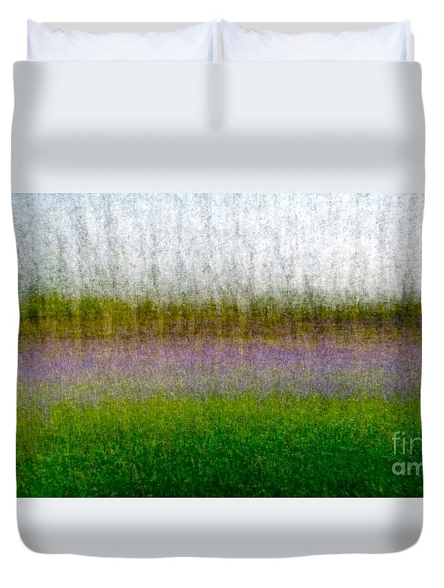 Bluebells Duvet Cover featuring the photograph Meadow Lark by Stacey Howard