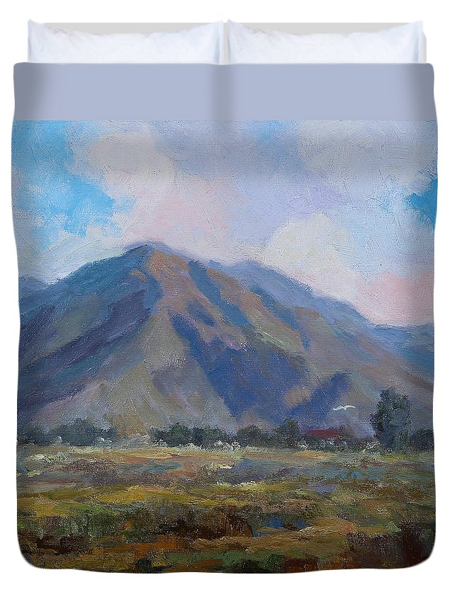 100 Views Of Mount Konocti Duvet Cover featuring the painting Meadow Of The Mountain by Joe Geare