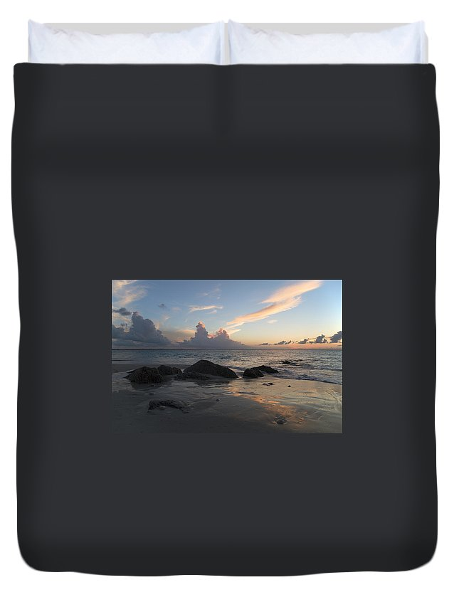 Beach Duvet Cover featuring the photograph Meandering Light by Betsy Knapp