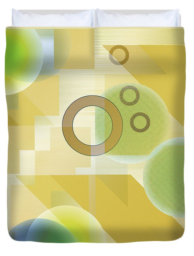 Digital Duvet Cover featuring the digital art Measurable Mingle by Ruth Palmer