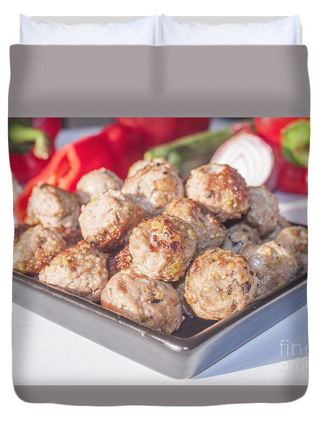 Meat Duvet Cover featuring the photograph Meat Balls by D R