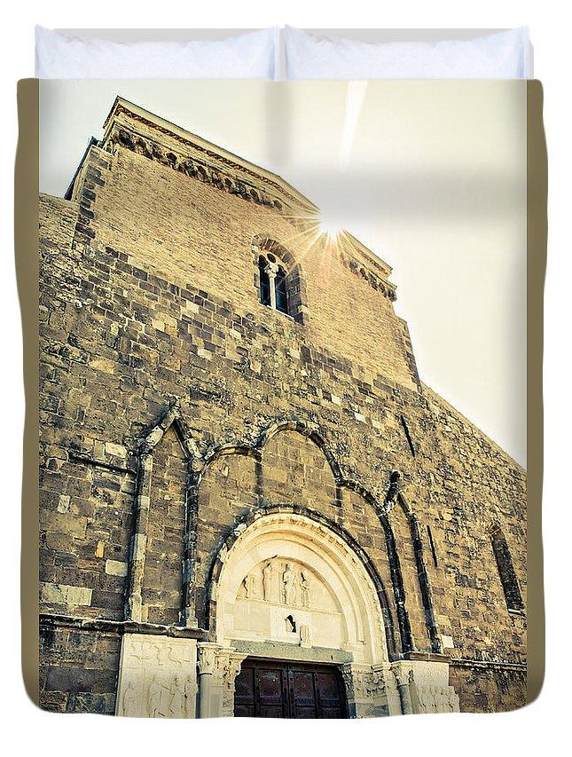Italy Duvet Cover featuring the photograph Medieval Abbey - Fossacesia - Italy 5 by Andrea Mazzocchetti