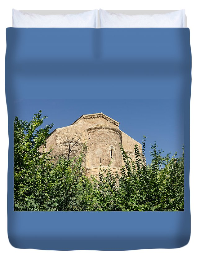 Abbey Duvet Cover featuring the photograph Medieval Abbey - Fossacesia - Italy 7 by Andrea Mazzocchetti