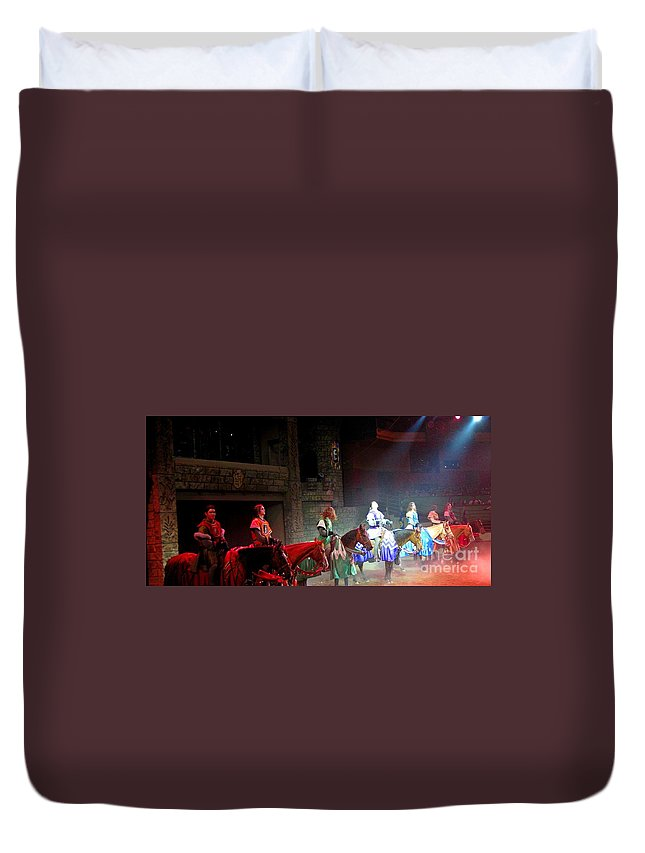 Medieval Times Dinner Theatre In Las Vegas Duvet Cover featuring the photograph Medieval Times Dinner Theatre In Las Vegas by John Malone