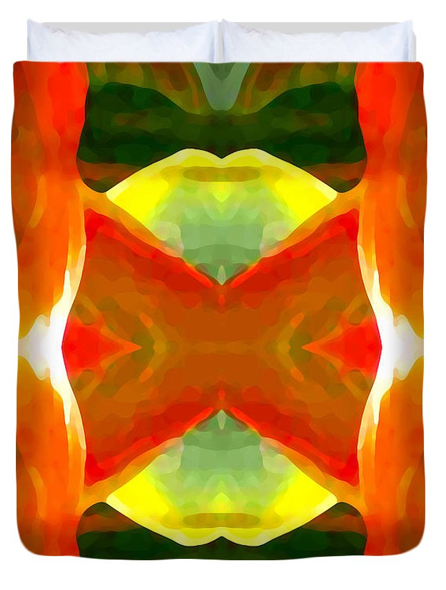 Abstract Duvet Cover featuring the painting Meditation by Amy Vangsgard
