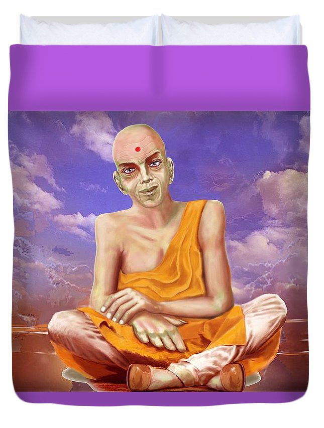 Holy Man Duvet Cover featuring the digital art Meditation by George Flay