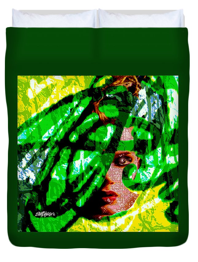 Abstract Duvet Cover featuring the digital art Medusa 1-26 by Seth Weaver