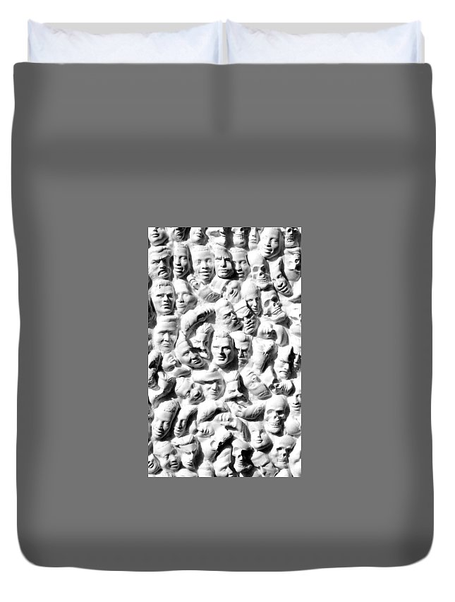 Figure Duvet Cover featuring the sculpture Melancholic Journey 1 by Mark Cawood