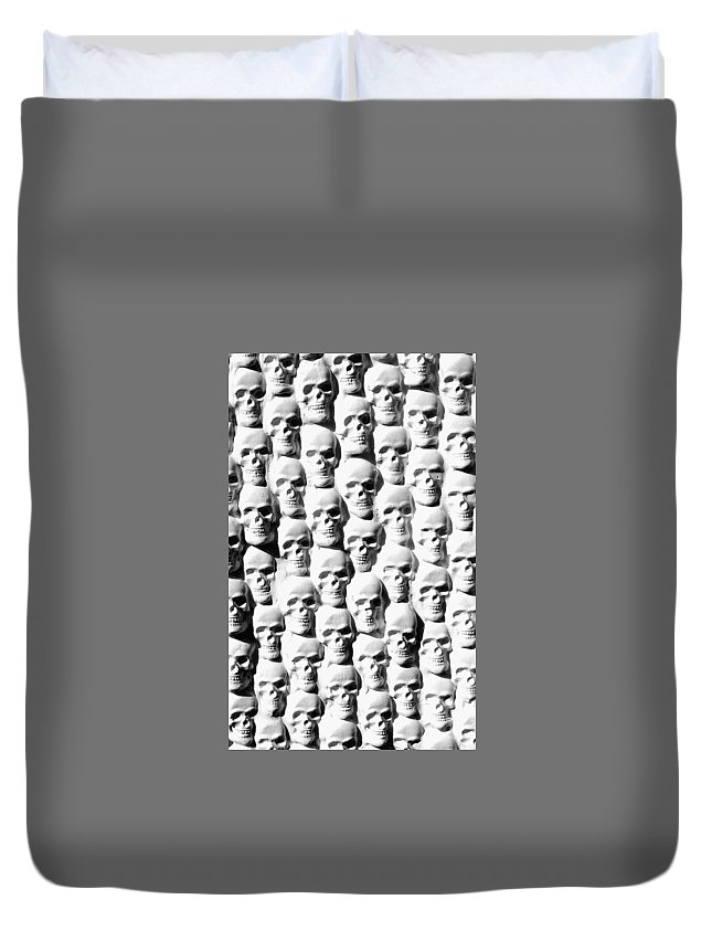 Figurative Duvet Cover featuring the sculpture Melancholic Journey 2 by Mark Cawood