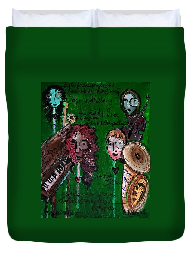 Melissa Axel Music Duvet Cover featuring the painting Melissa Axel At Swallow Hill by Laurie Maves ART