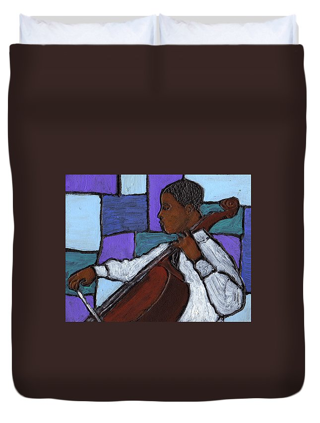 Blues Duvet Cover featuring the painting Mellow Blues by Wayne Potrafka