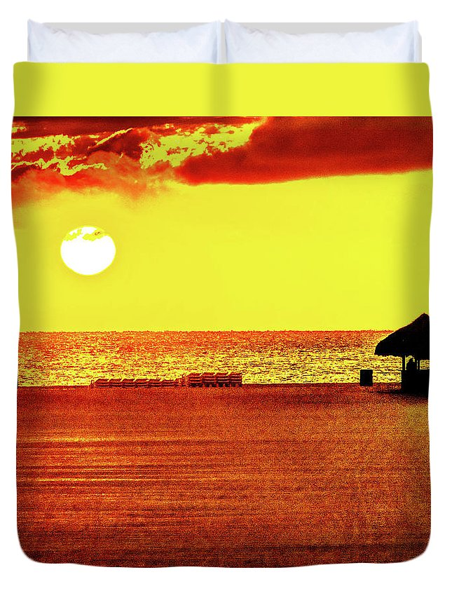 Florida Duvet Cover featuring the photograph Mellow Yellow by Aaron Geraud