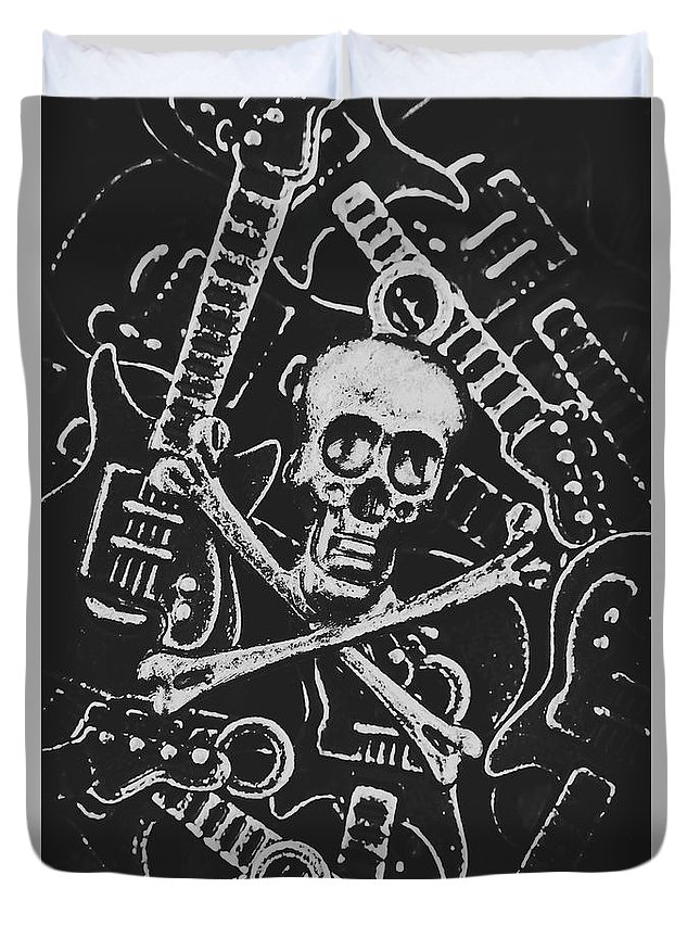 Horror Duvet Cover featuring the photograph Melodic Death Metal by Jorgo Photography - Wall Art Gallery