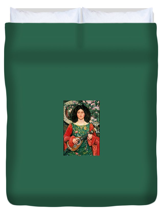 Kate Elizabeth Bunce - Melody Ca. 1895-97 Duvet Cover featuring the painting Melody by MotionAge Designs