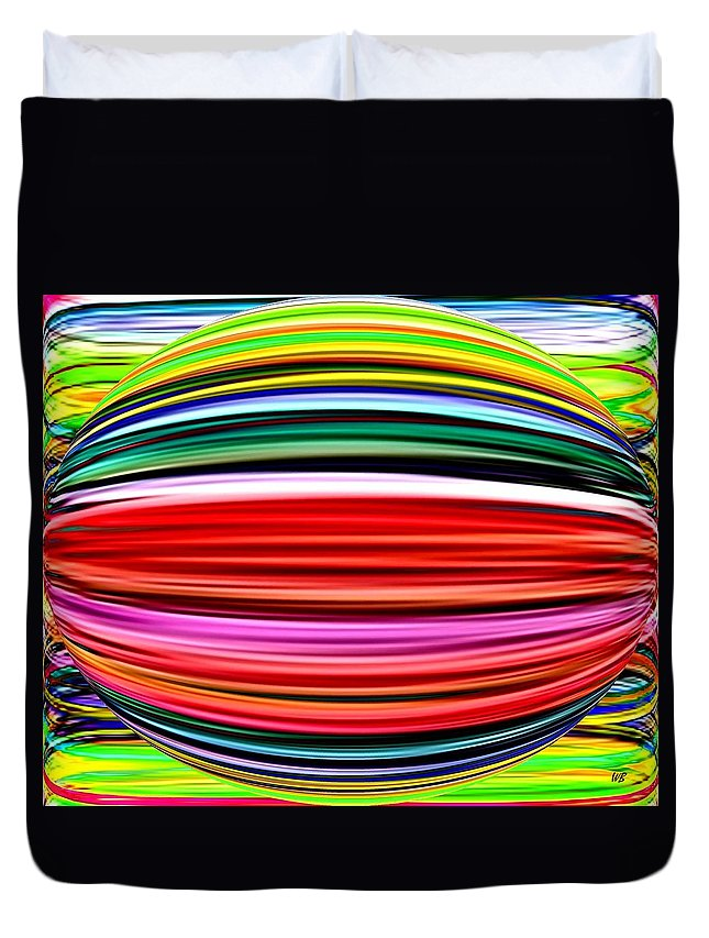 Abstract Duvet Cover featuring the digital art Melon Mania by Will Borden