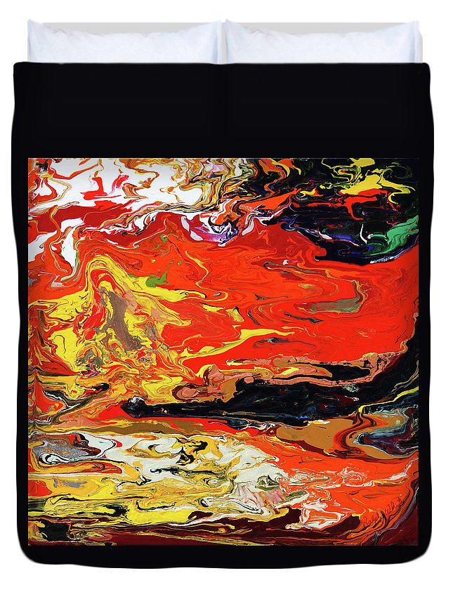 Fusionart Duvet Cover featuring the painting Melt by Ralph White