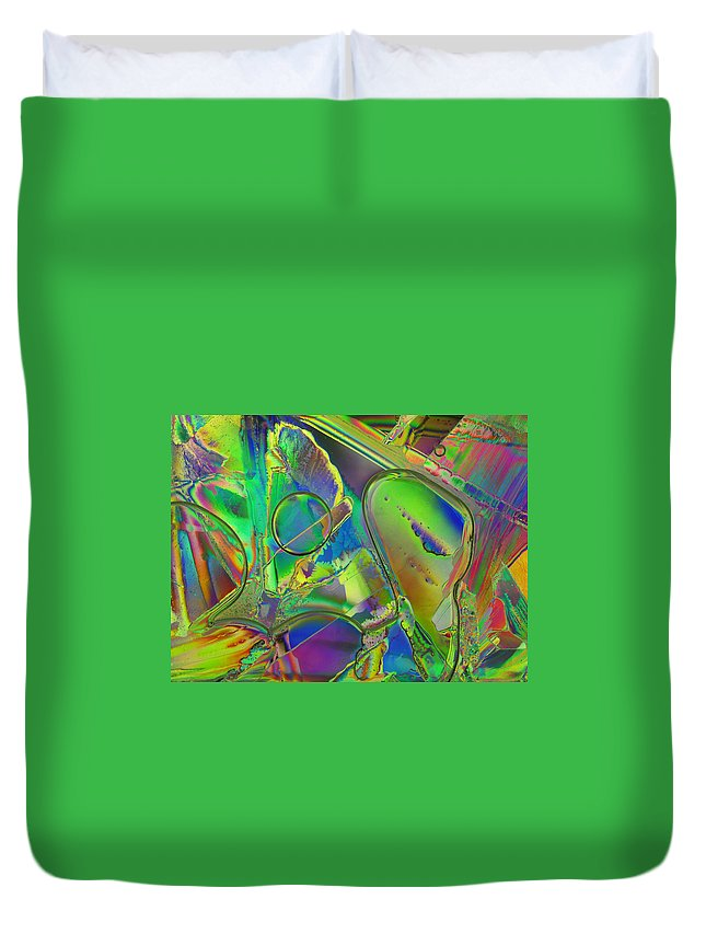 Ice Duvet Cover featuring the photograph Melting Ice by Carol Berget