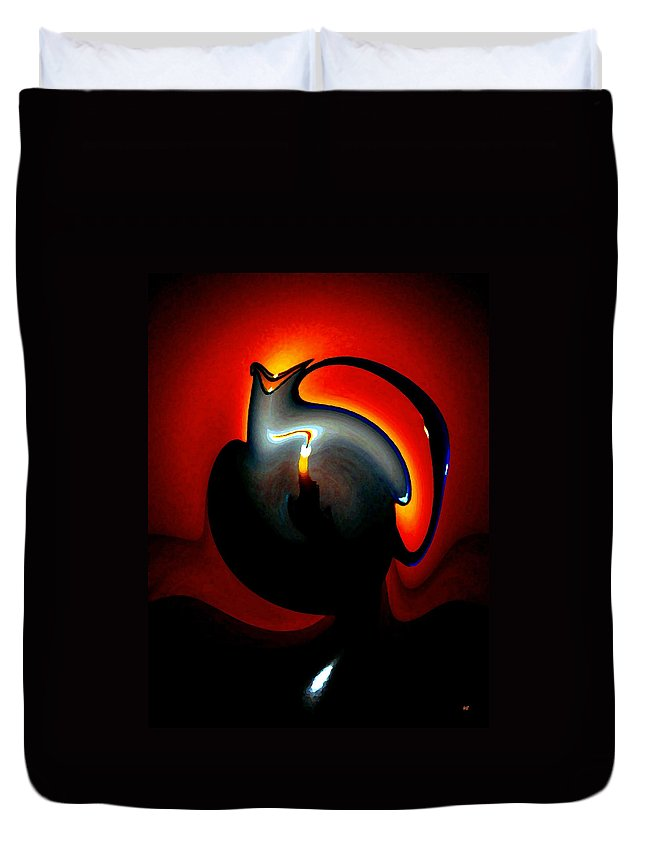 Dramatic Duvet Cover featuring the digital art Melting Point by Will Borden