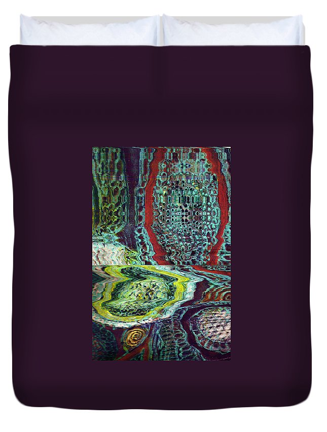 Abstract Duvet Cover featuring the painting Melting by Wayne Potrafka