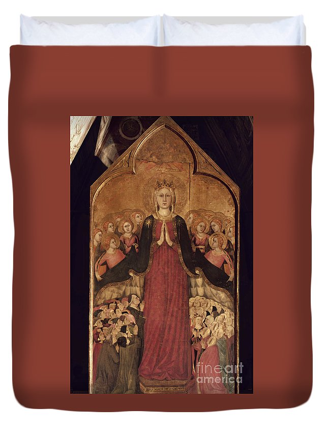 14th Century Duvet Cover featuring the photograph Memmi: Madonna In Heaven by Granger