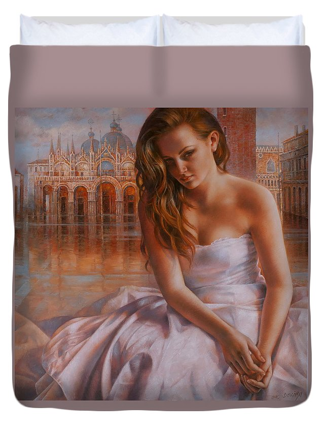 Venice Duvet Cover featuring the painting Memories by Arthur Braginsky