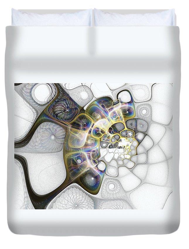 Digital Art Duvet Cover featuring the digital art Memories II by Amanda Moore