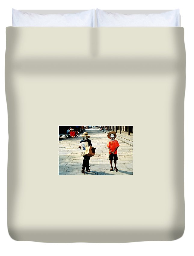 Big Easy Duvet Cover featuring the photograph Memories Of A Better Time The Children Of New Orleans by Christine Till