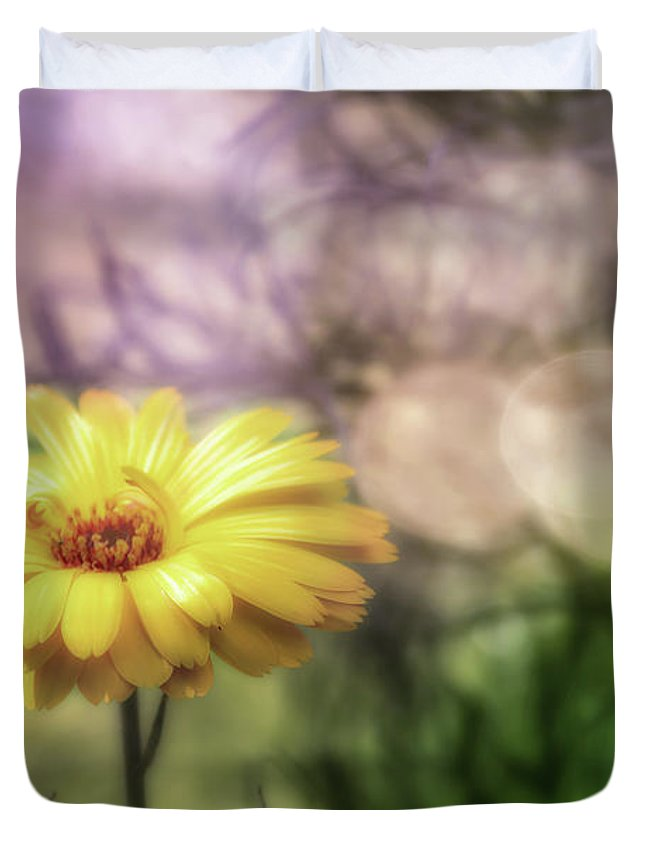 Marigold Duvet Cover featuring the photograph Memories Of Summer by Richard Sayer