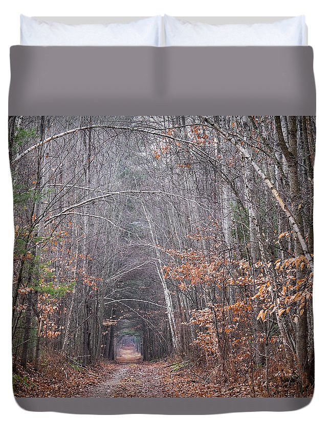 Memory Lane Duvet Cover featuring the photograph Memory Lane 1 by Diane Moore