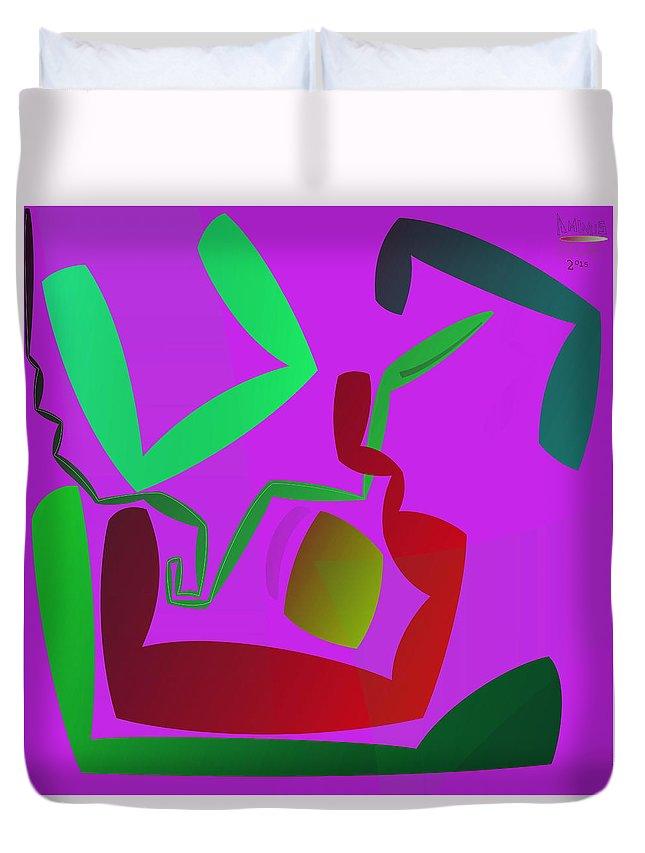 Duvet Cover featuring the digital art Memory Cube by Aminus Bplus