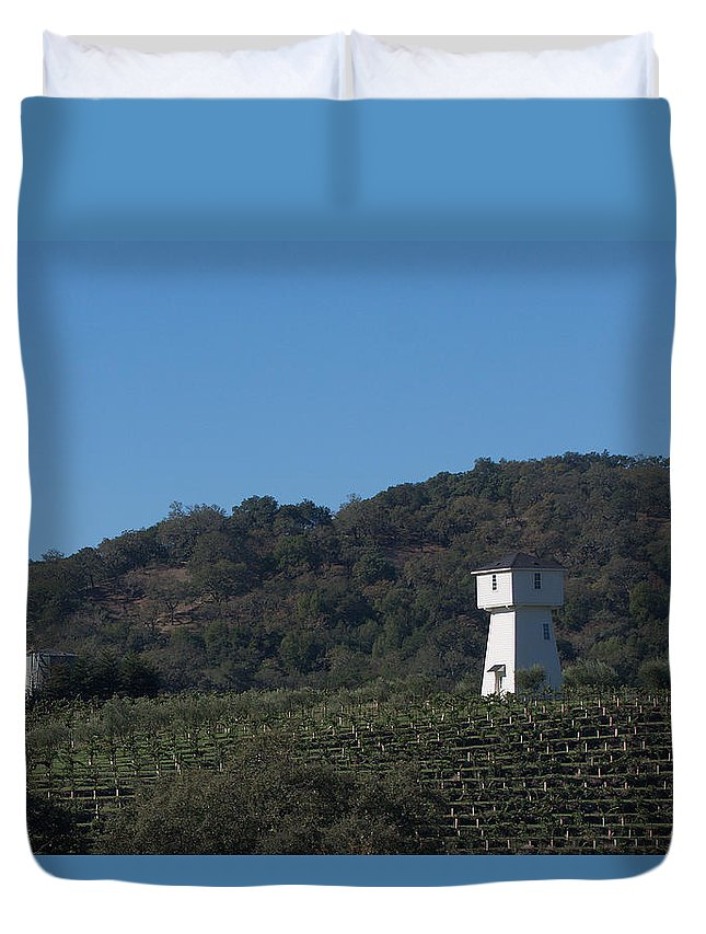 Tankhouse Duvet Cover featuring the photograph Mendocino Tankhouse by Grant Groberg