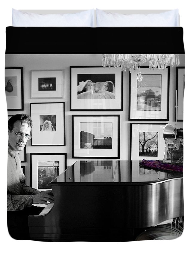 Piano Playing Duvet Cover featuring the photograph Mephistos Waltz by Madeline Ellis