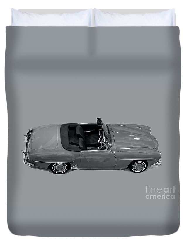Mercedes 190sl Duvet Cover featuring the photograph Mercedes 190sl by Roger Lighterness