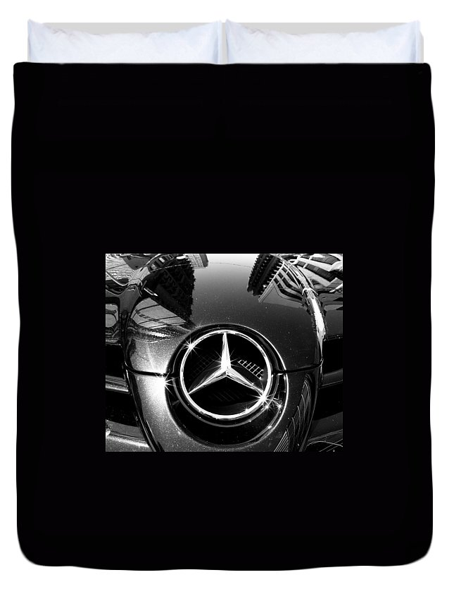 Mercedes Benz Duvet Cover featuring the photograph Mercedes Maclaren by Andrew Fare