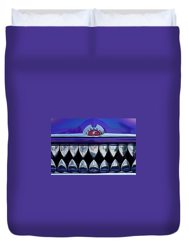 Mercury Car Duvet Cover featuring the photograph Mercury by Roger Mullenhour