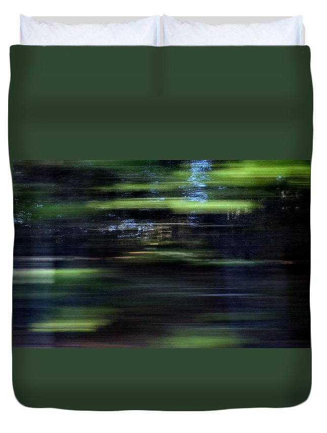 Intense Duvet Cover featuring the photograph Merging Paths by Skip Willits