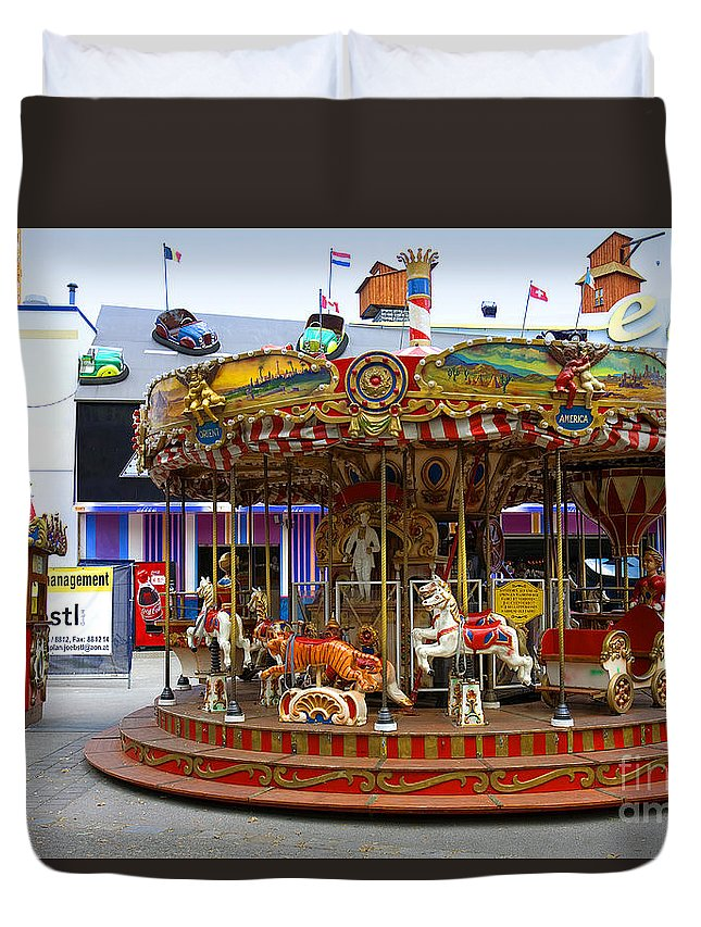 Merry-go-round Duvet Cover featuring the photograph Merry-go-round At The Prater by Madeline Ellis