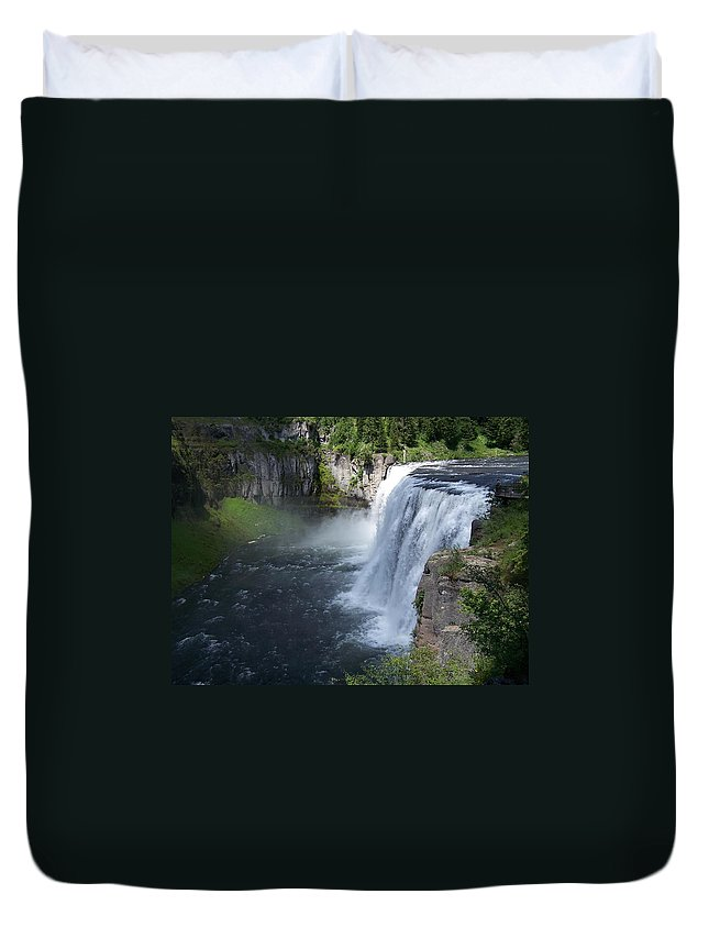 Landscape Duvet Cover featuring the photograph Mesa Falls by Gale Cochran-Smith