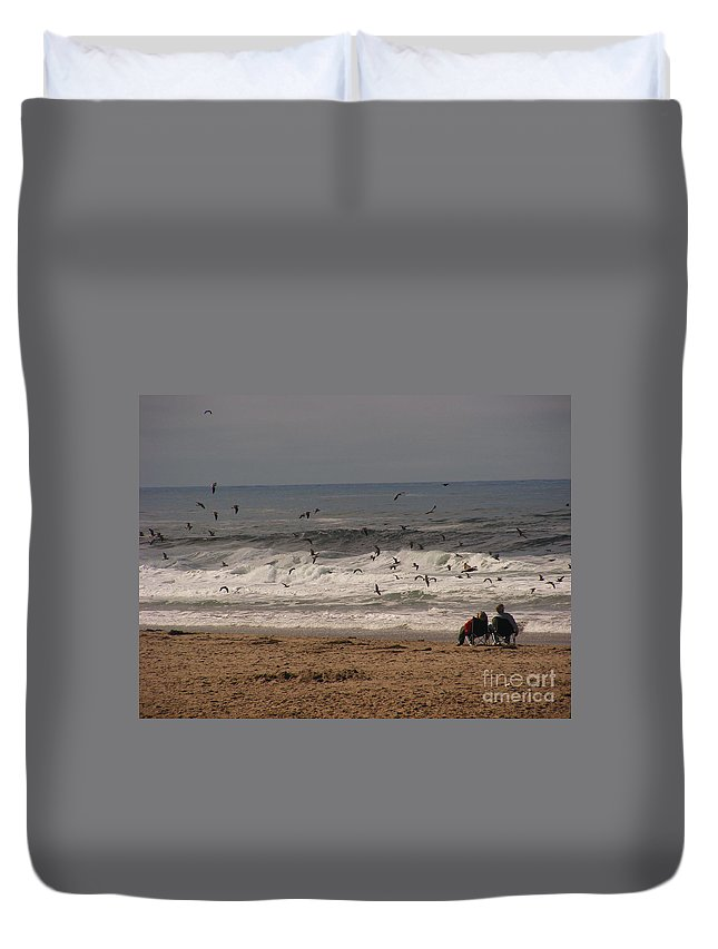 Ocean Scene Duvet Cover featuring the photograph Mesmerized by Marilyn Smith