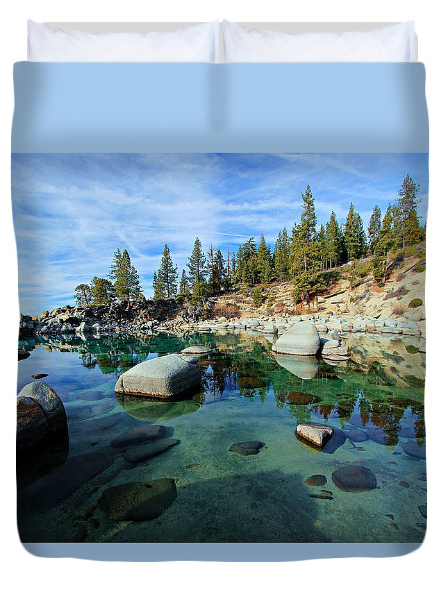 Lake Tahoe Duvet Cover featuring the photograph Mesmerized by Sean Sarsfield
