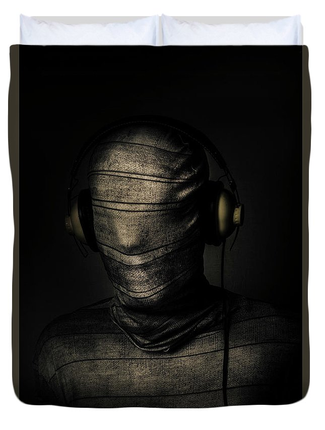 Death Duvet Cover featuring the photograph Metal Monster Mummy by Jorgo Photography - Wall Art Gallery